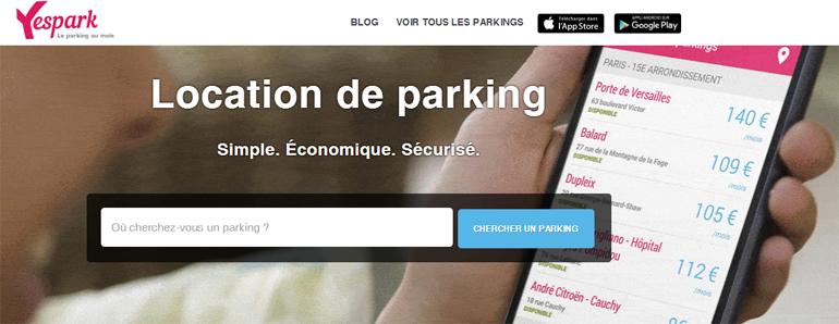 Yespark location de parking un vrai astuce de VTC et de Capacitaire