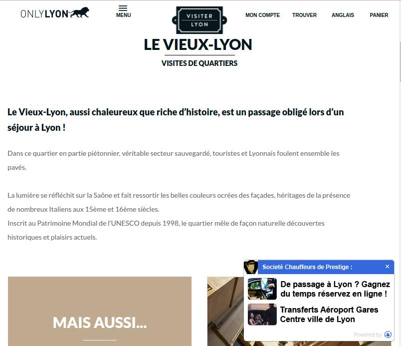 Exemple de visuel VTC Lyon