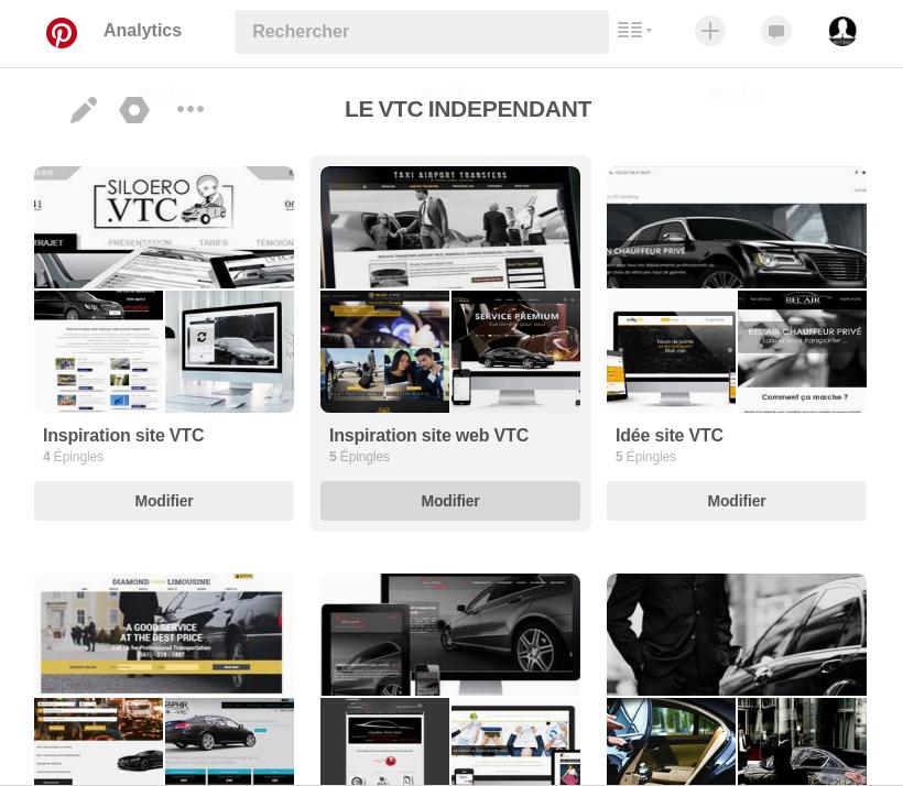 Compte Pinterest Le VTC Indépendant